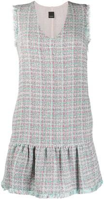 Pinko tweed V-neck dress