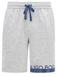 BOSS Melange jersey pyjama shorts with heat-sealed logo
