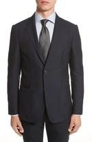 Z Zegna Men's Classic Fit Stripe Cotton Blend Sport Coat
