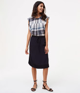 LOFT Tall Two Tone Drawstring Skirt