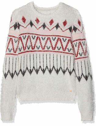 Esprit Girl's Sweater Ikat Plain Regular Fit Long Sleeve Sweatshirt