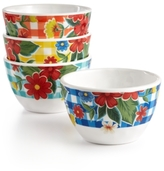 Certified International Frida 4-Pc. Melamine Mixed Dip Bowl Set