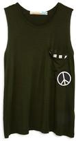 Vintage Havana Girls' Peace Pocket Tank - Sizes S-XL