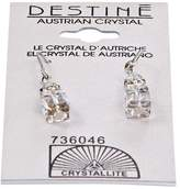 Crystallite Destine Cube Dangle Earrings