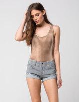 Others Follow Striped Cuff Womens Shorts