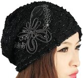 Sheliky Beanie Hat Women Turban Skullies Butterfly Bonnet Yoga Sport Headwrap
