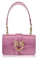 Pinko Women's Pink Patent Leather Shoulder Bag.