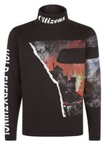 Blood Brother Fire Print Sweatshirt