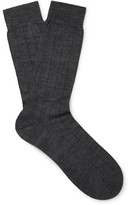 Pantherella - Cabbell Pinstriped Merino Wool-blend Socks