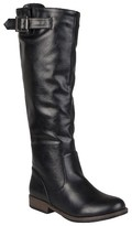 Journee Collection Women's Buckle Detail Fashion Boots