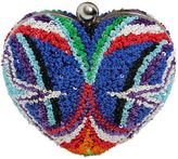 Manish Arora Sequined Heart Clutch