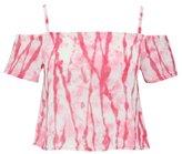 M&Co Tie Dye cold shoulder crop top