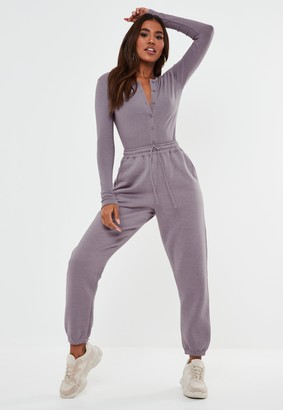 Missguided Petite Lilac Oversized 90S Joggers