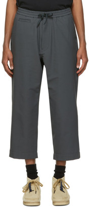Nanamica Grey Wool Easy Trousers