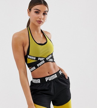 Puma Exclusive to ASOS double layer tape detail bra top-Multi