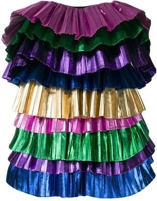 ATTICO strapless shift dress