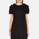 MSGM Women's Frill Sleeve TShirt - Black