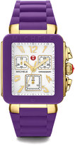 Michele Park Jelly Bean Chronograph Watch w/ Silicone Strap, Purple
