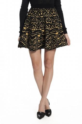 Torn By Ronny Kobo Anabella Skirt - Camel/Black