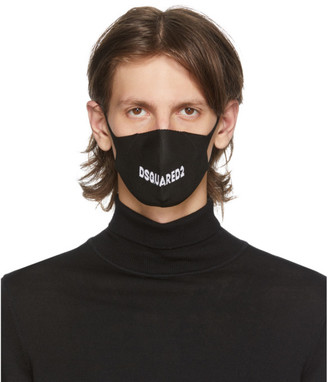 DSQUARED2 Black Logo Mask
