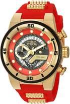Invicta Men's 'S1 Rally' Quartz Gold and Silicone Casual Watch, Color:Two Tone (Model: 24225)