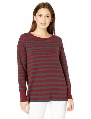 Tribal Women's L/S Reversible Striped Crew Neck Sweater