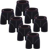 Forest Men's Cotton Boxer Briefs Shorts Underwear(Pack of 7)(Black,XL)