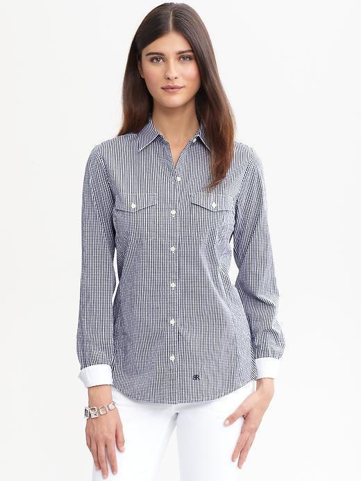 Banana Republic Soft-wash gingham shirt