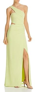 BCBGMAXAZRIA Cutout One-Shoulder Gown