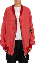 Ben Taverniti Unravel Project Women's Silk-Blend Georgette Bomber Jacket