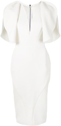 Maticevski V-neck sculpted sleeves dress