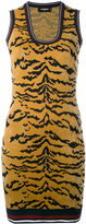 DSQUARED2 animal print mini dress - women - Polyester/Viscose - S