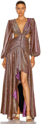 PatBO Metallic Cut-Out Gown in Pink | FWRD