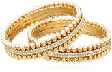 Chamak by Priya Kakkar Gold Rhinestone Bangle Bracelet