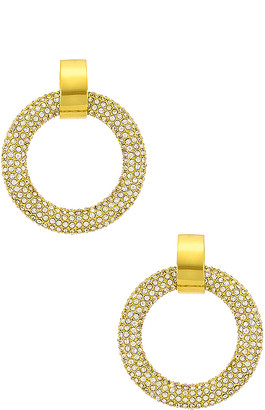 Luv Aj The Pave Door Knocker Hoops