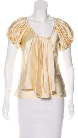Givenchy Silk Pleated Top w/ Tags
