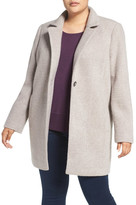 Kenneth Cole New York Ribbed Coat (Plus Size)