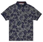Burton Mens Navy Floral Polo Shirt