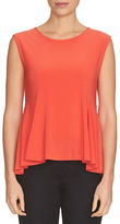 CeCe Solid Sleeveless Roundneck Top