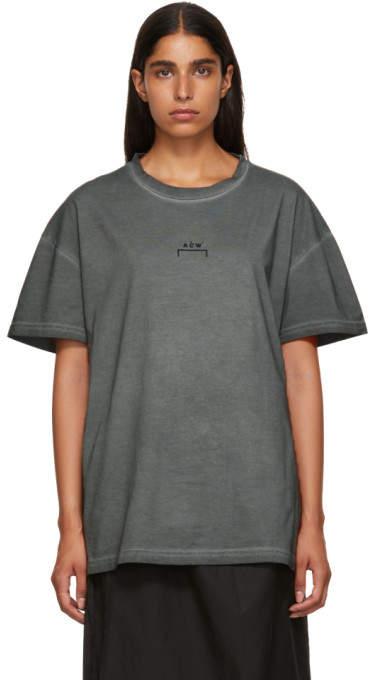 A-Cold-Wall* A Cold Wall* Grey Bracket Logo T-Shirt