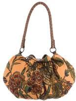 Antik Batik Bead-Embellished Canvas Hobo