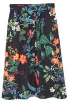 MANGO Floral midi skirt