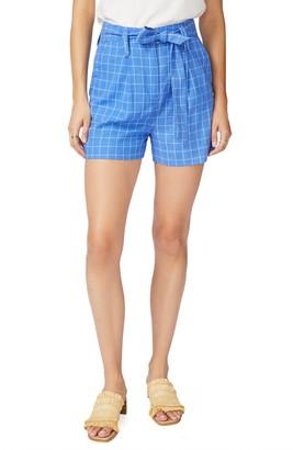 Court & Rowe Tie Waist Windowpane Shorts