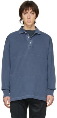 Schnaydermans Indigo Garment-Dyed Rugby Polo