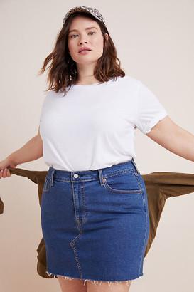 Levi's Denim Plus Mini Skirt By in Blue Size 22W