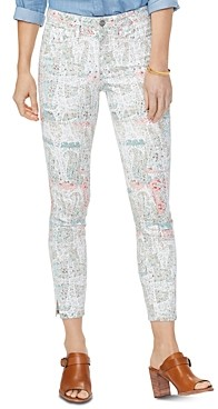NYDJ Ami Ankle Skinny Jeans in Paisley Impression Canyon Clay