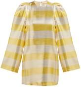 By. Bonnie Young - Striped Silk-blend Lame Dress - Womens - Metallic