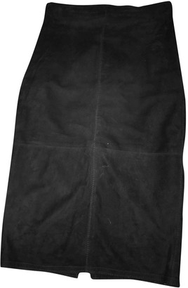 Gianni Versace Black Suede Skirt for Women Vintage