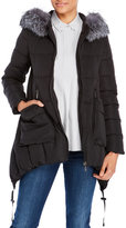 annabelle Juno Real Fur Trim Hooded Down Puffer Coat