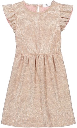 La Redoute Collections Sparkly Ruffled Dress, 3-12 Years